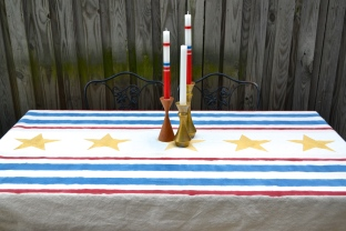 Fourth of July Tablecloth by Just Something I Whipped Up