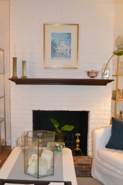 Painted brick fireplace by Just Something I Whipped Up