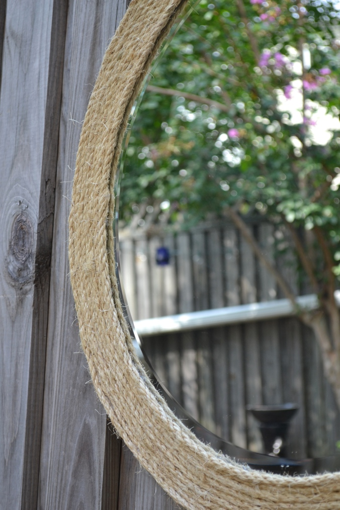 Sisal Wrapped Mirror by Just Something I Whipped Up
