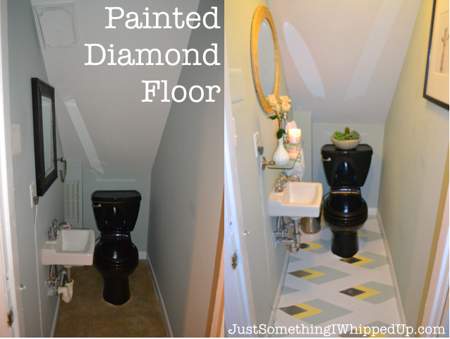 Painted Diamond Floor by Just Something I Whipped Up