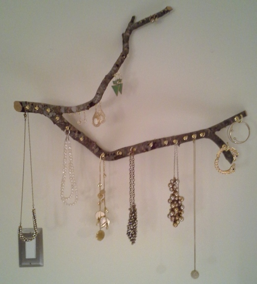 Found Stick Jewelry Organizer by Just Something I Whipped Up