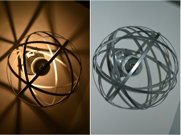 DIY Orb Light Fixture from JustSomethingIWhippedUp.com