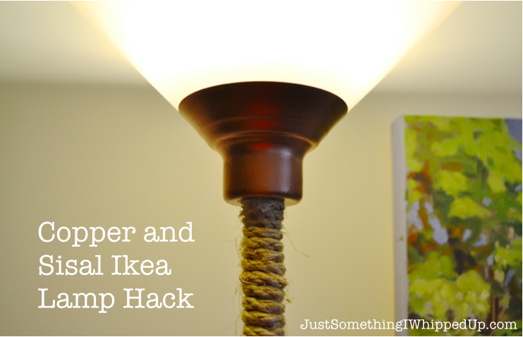 Copper and sisal ikea lamp hack just something i whipped up copper and sisal ikea lamp hack mozeypictures Image collections