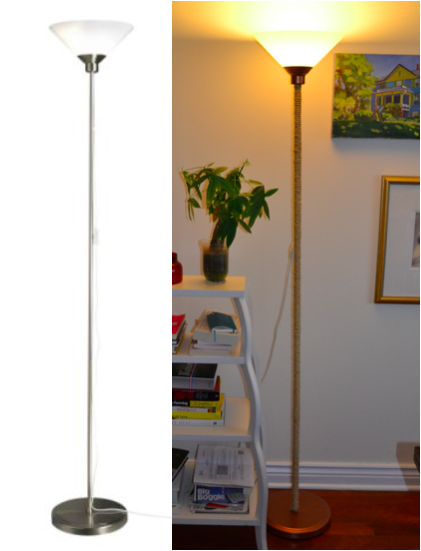 Copper and Sisal Ikea Floor Lamp Hack by Just Something I Whipped Up